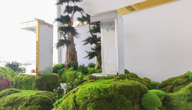 Preserved Indoor Landscape Project at Mamoura Lift